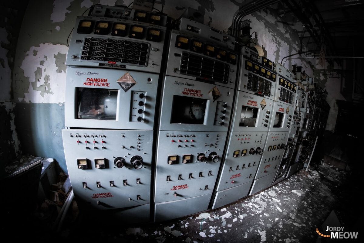 Danger High Voltage at Fuchu Air Base