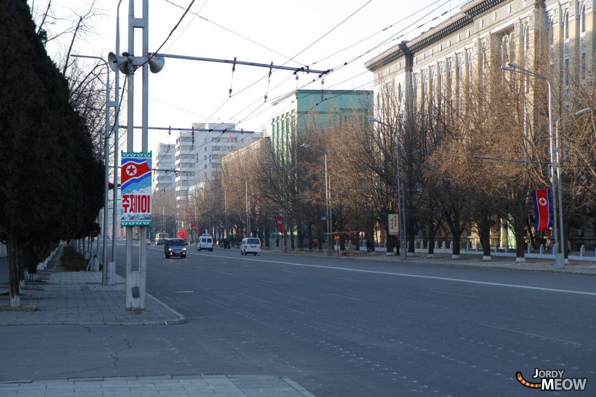 Busy Street in Pyongyang