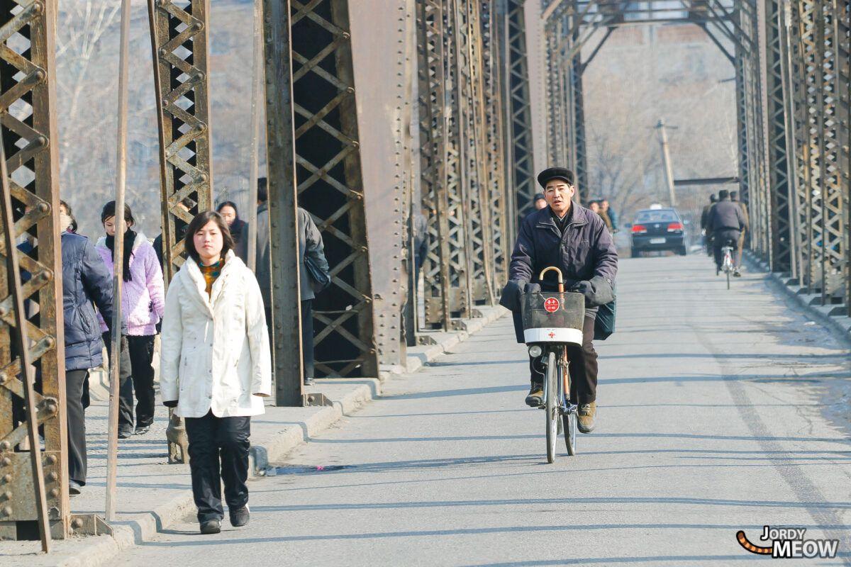 Street Market Bridge in Pyongyang