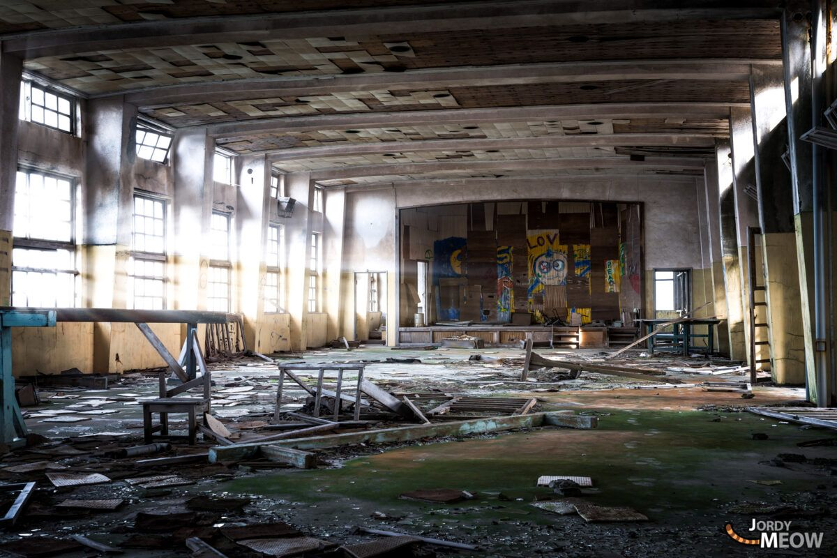 Auditorium of the Gunkanjima School