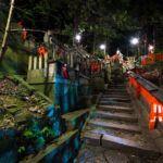 Sanctuaire de Fushimi Inari dans la nuit